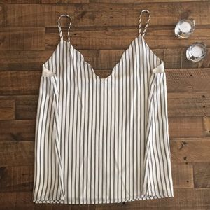 Scalloped stripped tank - Brand New XL